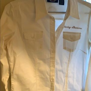 Women's NWOT White long sleeve blouse Size M